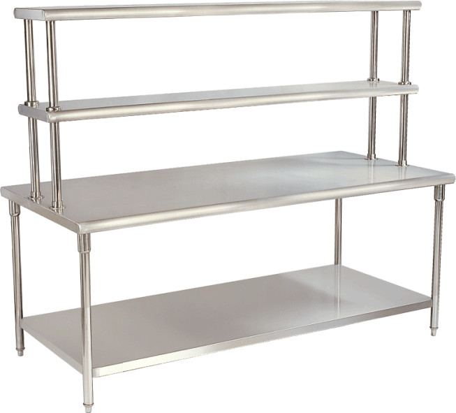 strong style color b82220 kitchen strong yx h30 2 stainless steel catering equipment work table with top rack